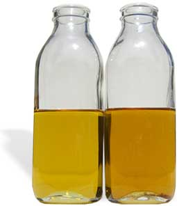 bottle of light and dark peanut oil