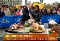 still shot from clip of CBS Morning Show deep-frying a turkey