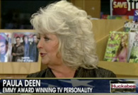 still shot from clip of Paula Deen deep-frying turkey with peanut oil